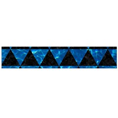 Triangle3 Black Marble & Deep Blue Water Flano Scarf (large)