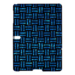 Woven1 Black Marble & Deep Blue Water Samsung Galaxy Tab S (10 5 ) Hardshell Case
