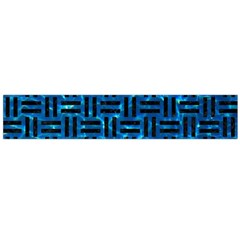 Woven1 Black Marble & Deep Blue Water (r) Flano Scarf (large)