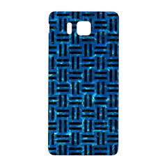 Woven1 Black Marble & Deep Blue Water (r) Samsung Galaxy Alpha Hardshell Back Case
