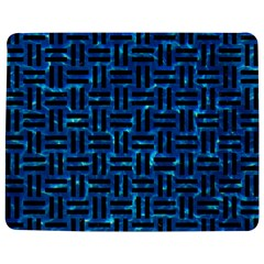 Woven1 Black Marble & Deep Blue Water (r) Jigsaw Puzzle Photo Stand (rectangular)