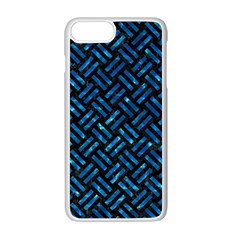 Woven2 Black Marble & Deep Blue Water Apple Iphone 7 Plus White Seamless Case