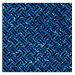 Woven2 Black Marble & Deep Blue Water (r) Large Satin Scarf (square)