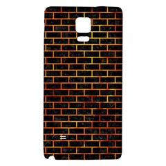 Brick1 Black Marble & Fire Galaxy Note 4 Back Case
