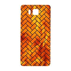 Brick2 Black Marble & Fire (r) Samsung Galaxy Alpha Hardshell Back Case
