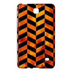 Chevron1 Black Marble & Fire Samsung Galaxy Tab 4 (7 ) Hardshell Case