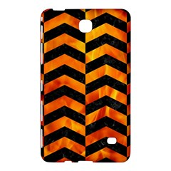 Chevron2 Black Marble & Fire Samsung Galaxy Tab 4 (7 ) Hardshell Case