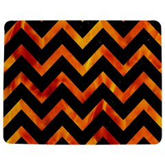 Chevron9 Black Marble & Fire Jigsaw Puzzle Photo Stand (rectangular)