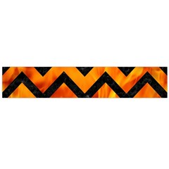 Chevron9 Black Marble & Fire (r) Flano Scarf (large)