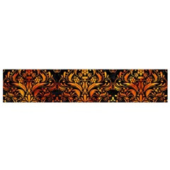 Damask1 Black Marble & Fire Flano Scarf (small)