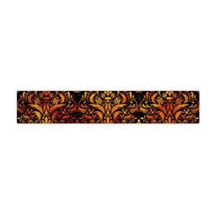 Damask1 Black Marble & Fire Flano Scarf (mini)