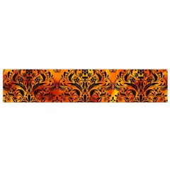 Damask1 Black Marble & Fire (r) Flano Scarf (small)