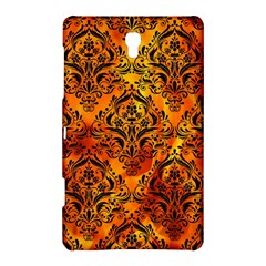 Damask1 Black Marble & Fire (r) Samsung Galaxy Tab S (8 4 ) Hardshell Case