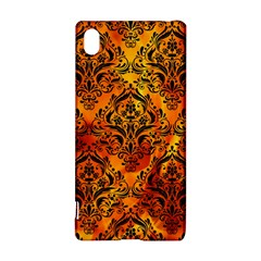 Damask1 Black Marble & Fire (r) Sony Xperia Z3+