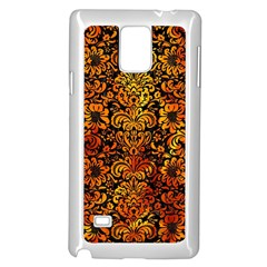 Damask2 Black Marble & Fire Samsung Galaxy Note 4 Case (white)
