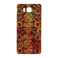 Damask2 Black Marble & Fire Samsung Galaxy Alpha Hardshell Back Case