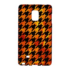Houndstooth1 Black Marble & Fire Galaxy Note Edge