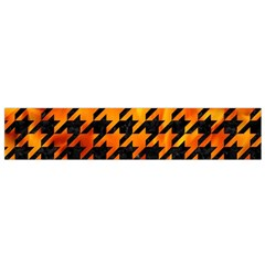 Houndstooth1 Black Marble & Fire Flano Scarf (small)
