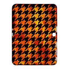 Houndstooth1 Black Marble & Fire Samsung Galaxy Tab 4 (10 1 ) Hardshell Case