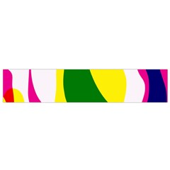 Anatomicalrainbow Wave Chevron Pink Blue Yellow Green Flano Scarf (small)