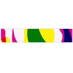 Anatomicalrainbow Wave Chevron Pink Blue Yellow Green Flano Scarf (large)
