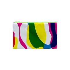Anatomicalrainbow Wave Chevron Pink Blue Yellow Green Cosmetic Bag (xs)