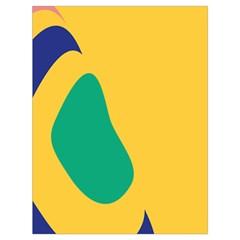 Yellow Green Blue Drawstring Bag (large)