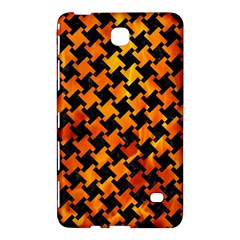 Houndstooth2 Black Marble & Fire Samsung Galaxy Tab 4 (8 ) Hardshell Case
