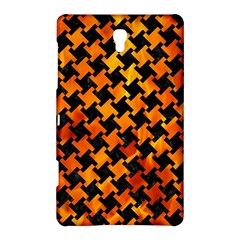Houndstooth2 Black Marble & Fire Samsung Galaxy Tab S (8 4 ) Hardshell Case