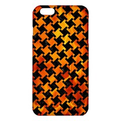 Houndstooth2 Black Marble & Fire Iphone 6 Plus/6s Plus Tpu Case