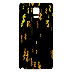 Animated Falling Spinning Shining 3d Golden Dollar Signs Against Transparent Galaxy Note 4 Back Case