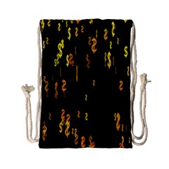 Animated Falling Spinning Shining 3d Golden Dollar Signs Against Transparent Drawstring Bag (small)