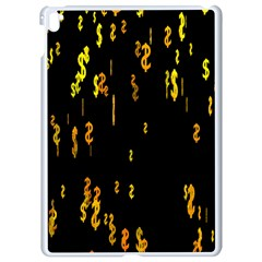 Animated Falling Spinning Shining 3d Golden Dollar Signs Against Transparent Apple Ipad Pro 9 7   White Seamless Case