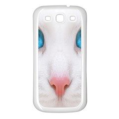 Beautiful White Face Cat Animals Blue Eye Samsung Galaxy S3 Back Case (white)