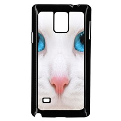 Beautiful White Face Cat Animals Blue Eye Samsung Galaxy Note 4 Case (black)