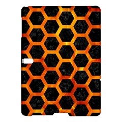 Hexagon2 Black Marble & Fire Samsung Galaxy Tab S (10 5 ) Hardshell Case