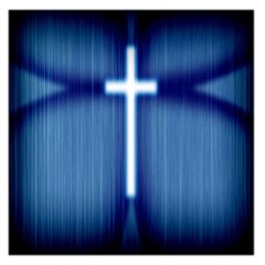 Blue Cross Christian Large Satin Scarf (square)