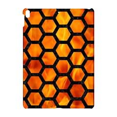 Hexagon2 Black Marble & Fire (r) Apple Ipad Pro 10 5   Hardshell Case