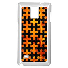 Puzzle1 Black Marble & Fire Samsung Galaxy Note 4 Case (white)