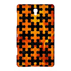 Puzzle1 Black Marble & Fire Samsung Galaxy Tab S (8 4 ) Hardshell Case