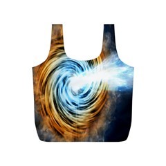 A Blazar Jet In The Middle Galaxy Appear Especially Bright Full Print Recycle Bags (s)
