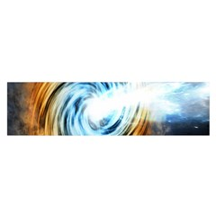 A Blazar Jet In The Middle Galaxy Appear Especially Bright Satin Scarf (oblong)