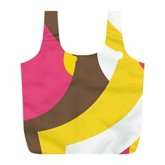 Breast Pink Brown Yellow White Rainbow Full Print Recycle Bags (l)