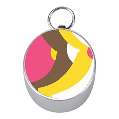 Breast Pink Brown Yellow White Rainbow Mini Silver Compasses
