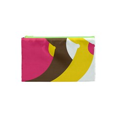 Breast Pink Brown Yellow White Rainbow Cosmetic Bag (xs)