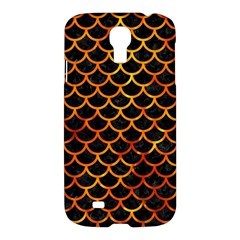 Scales1 Black Marble & Fire Samsung Galaxy S4 I9500/i9505 Hardshell Case