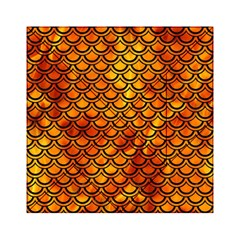 Scales2 Black Marble & Fire (r) Acrylic Tangram Puzzle (6  X 6 )