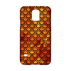 Scales2 Black Marble & Fire (r) Samsung Galaxy S5 Hardshell Case
