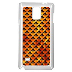 Scales3 Black Marble & Fire (r) Samsung Galaxy Note 4 Case (white)