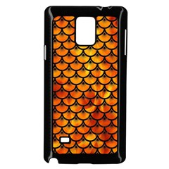 Scales3 Black Marble & Fire (r) Samsung Galaxy Note 4 Case (black)